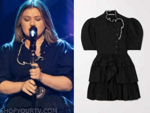 kelly clarkson, the kelly clarkson show, ruffle button tiered dress