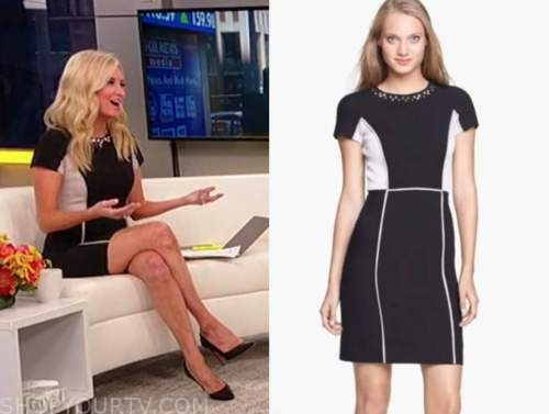 kayleigh mcenany, outnumbered, black and white colorblock dress