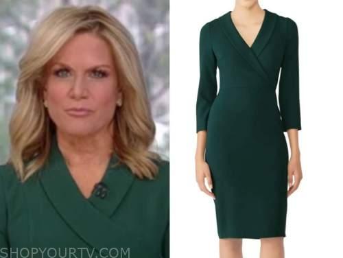 martha maccallum, the story, green blazer dress