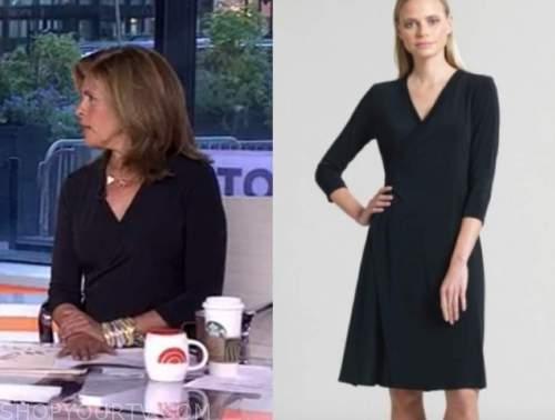 hoda kotb, the today show, black wrap dress