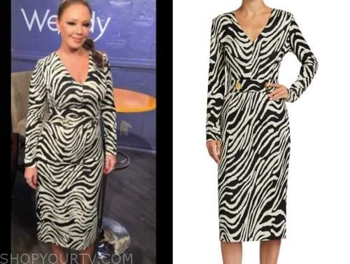 leah remini, the wendy williams show, zebra dress