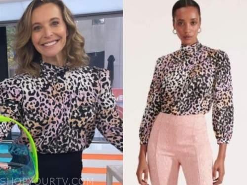 jenn falik, the today show, pink leopard top