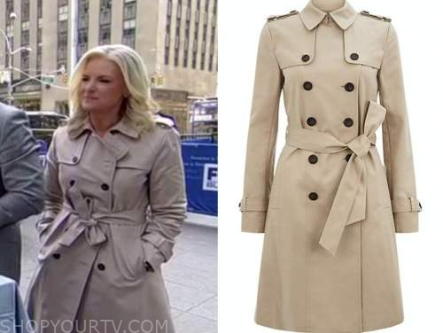 fox and friends, janice dean, beige trench coat