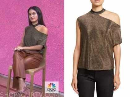 donna farizan, the today show, gold metallic cutout top