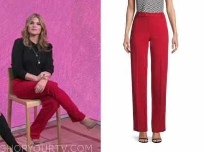 jenna bush hager, the today show, red pants
