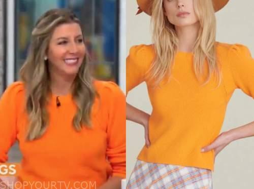 sara blakely, cbs mornings, orange sweater