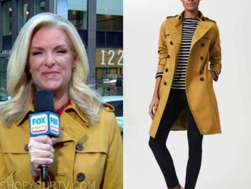 fox and friends, yellow trench coat, janice dean
