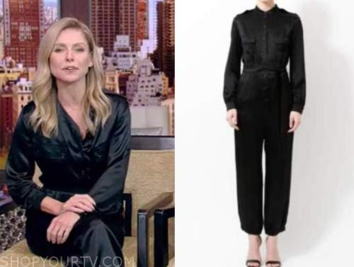 kelly ripa, satin jumpsuit, live with kelly and ryan