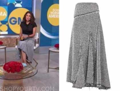 cecilia vega, tweed skirt, good morning america