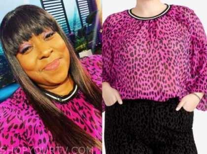 loni love, pink leopard top, E! news, daily pop
