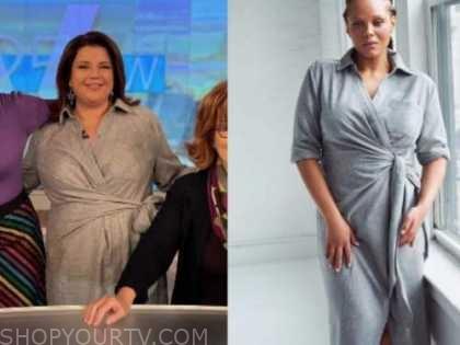ana navarro, grey wrap dress, the view