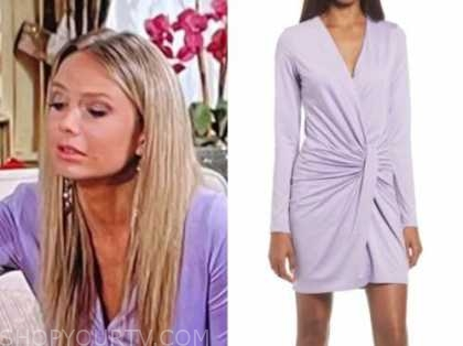 abby newman, melissa ordway, the young and the restless, purple twist dress