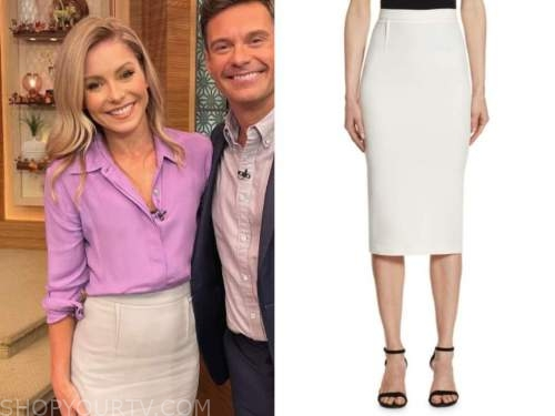 kelly ripa, live with kelly and ryan, pencil skirt