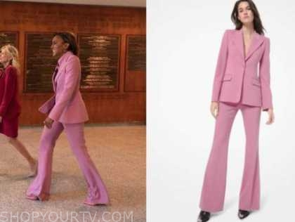 robin roberts, good morning america, pink blazer and pant suit