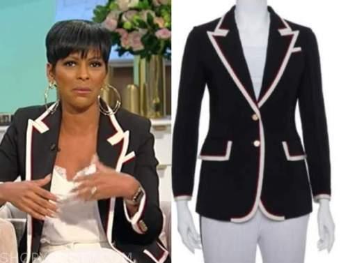 tamron hall, tamron hall show, contrast trim blazer