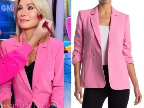 amy robach, good morning america, pink blazer