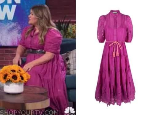 kelly clarkson show, kelly clarkson, pink lace dress