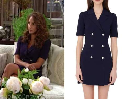 lily winters, christel khalil, the young and the restless, blazer dress