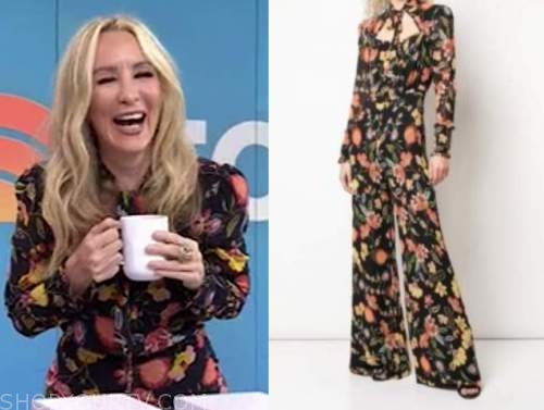 chassie post, black floral jumpsuit, the today show