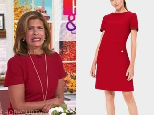the today show, hoda kotb, red dress