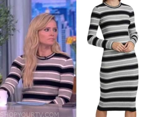 sara haines, the view, striped knit dress