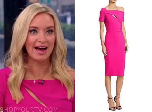 kayleigh mcenany, outnumbered, hot pink dress