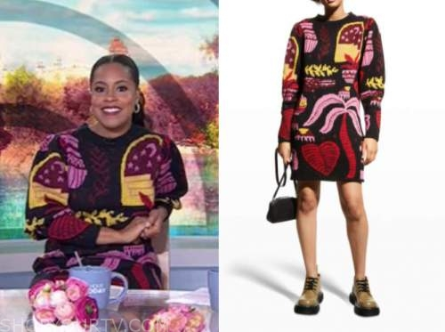 sheinelle jones, the today show, multicolor sweater dress