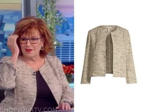 joy behar, gray jacket, the view